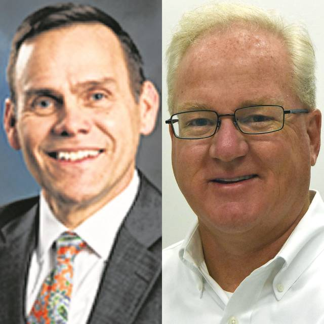 Jeff Sprague, left, will leave Greater Lima Region Inc., and Doug Olsson, right, will take over the regional organization.