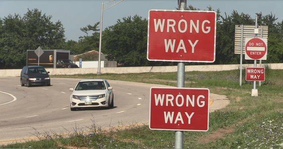 "The Ohio Department of Transportation debuted a new system to detect wrong-way drivers. Once the system detects a wrong-way driver, LED lights around the edge of several ""wrong way"" and ""do not enter"" signs begin blinking."