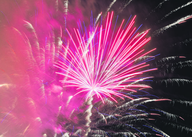 The fireworks display during last year's Star Spangled Spectacular held at Faurot Park. The Lima News file photo