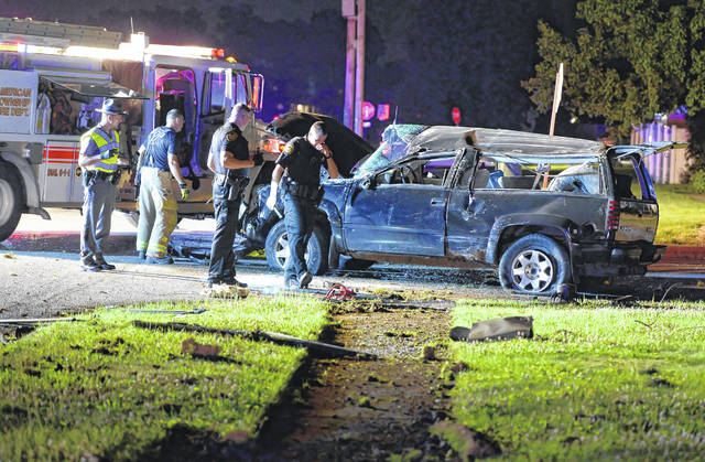 American Township Fire Department, Allen County Sheriff and Ohio State Highway Patrol were on the scene of a SUV wreck at the intersection of Augusta Drive and Edgewood Drive early Saturday morning.