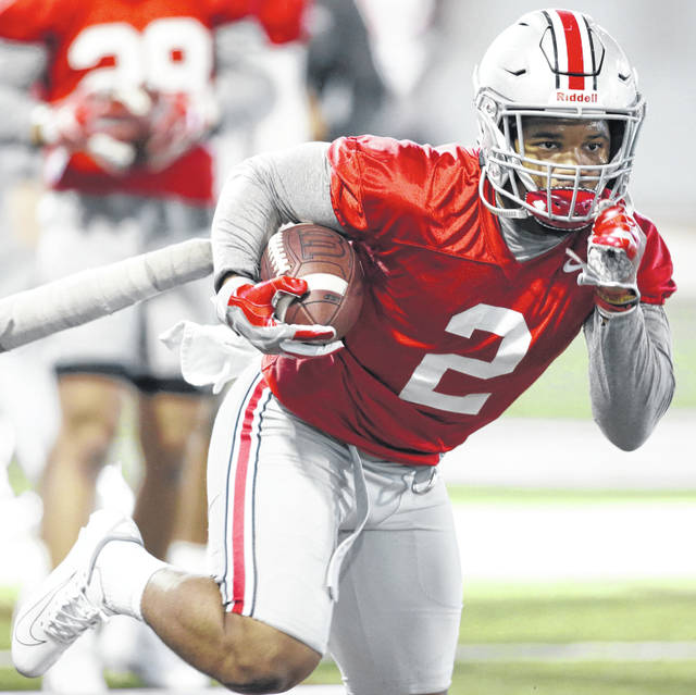 Ohio State running back J.K. Dobbins finished with 1,053 yards last season after rushing for 1,403 yards as a freshman.
