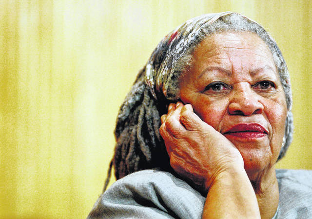 FILE - In this Nov. 25, 2005 file photo, author Toni Morrison listens to Mexicos Carlos Monsivais during the Julio Cortazar professorship conference at the Guadalajara's University in Guadalajara City, Mexico. The Nobel Prize-winning author has died. Publisher Alfred A. Knopf says Morrison died Monday, Aug. 5, 2019 at Montefiore Medical Center in New York. She was 88.
