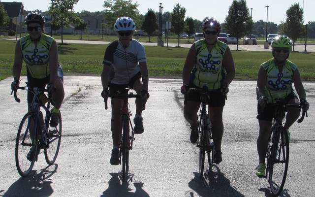 From left are Putnam County Cycling members Beth Hartoon, Tammy Niese, Lori Painter and Jeanna Wiswasser.