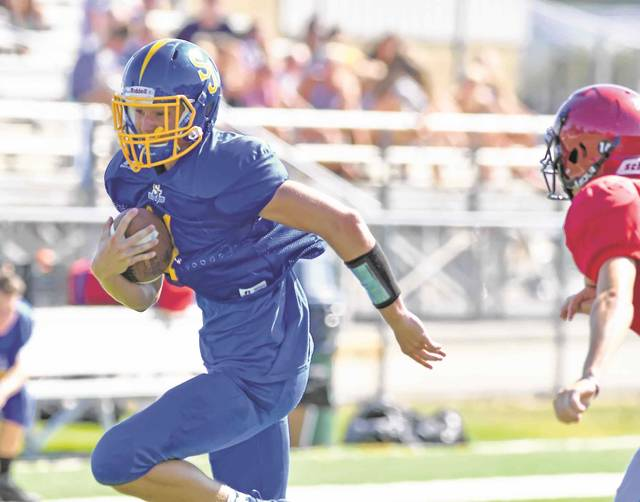 Delphos St. John's Brady Parrish will be called on to handle the Blue Jays' quarterback duties this year.
