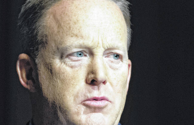 Former White House Press Secretary Sean Spicer speaks at the Turning Point High School Leadership Summit in Washington, D.C. on July 26, 2018. Spicer will be a contestant on this year's Dancing with the Stars.