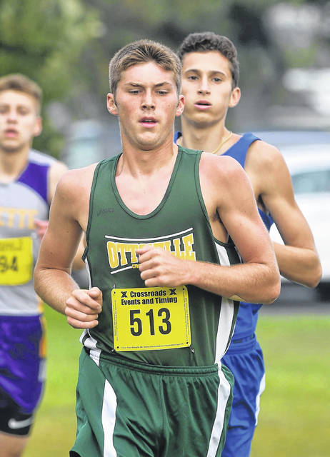 Ottoville's Nolan German competes in Saturday's Columbus Grove Invitational.