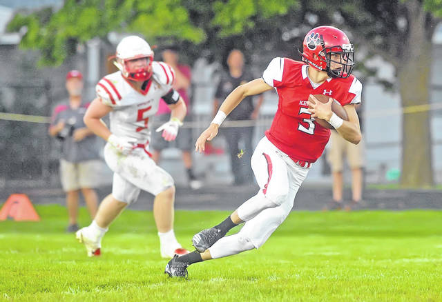 Kenton's Landon Rush is part of the one-two receiving punch the Wildcats will feature this year.