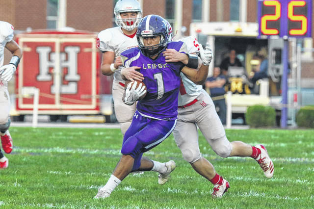 Leipsic's Juan Pena is one of several receivers returning for the Vikings this year.
