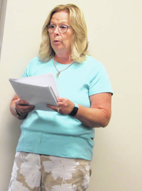Sugar Creek Township resident Joan presented a petition with 167 signatures and read a statement in opposition to closing the Vaughnsville Community Center polling location during the Putnam County Board of Elections meeting Tuesday night.