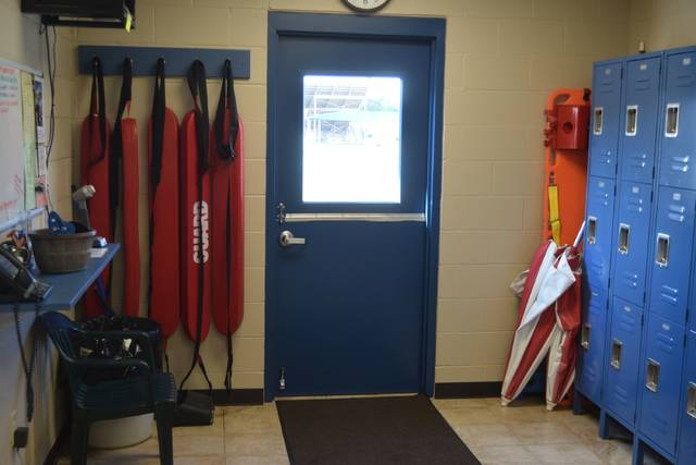 An expanded lifeguard area was made possible through the new pool house at Delphos Stadium Park's pool.