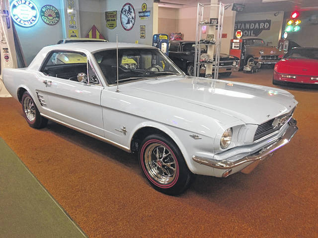 This 1966 Ford Mustang is Beth Kistler's favorite, since it reminds her of her family's car when she was growing up.