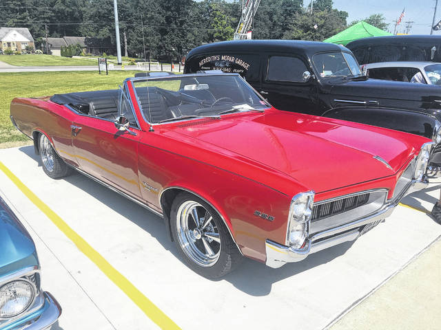 Dennis Beam, of Delphos, has owned this 1967 Pontiac Tempest convertible for five years.