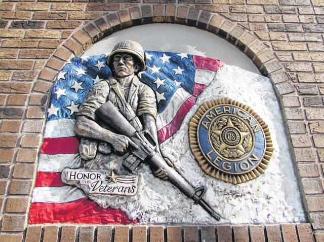 Pictured is a sculpture honoring veterans and celebrating Kerner-Slusser American Legion Post 63 upcoming Centennial.
