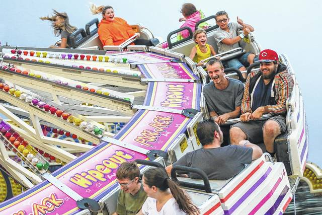 All smiles on the Wipeout during a past Allen County Fair.