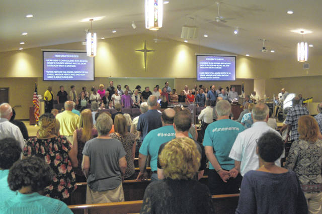 A Community Healing Service was held Sunday at Second Baptist Church to help heal and end gun violence.