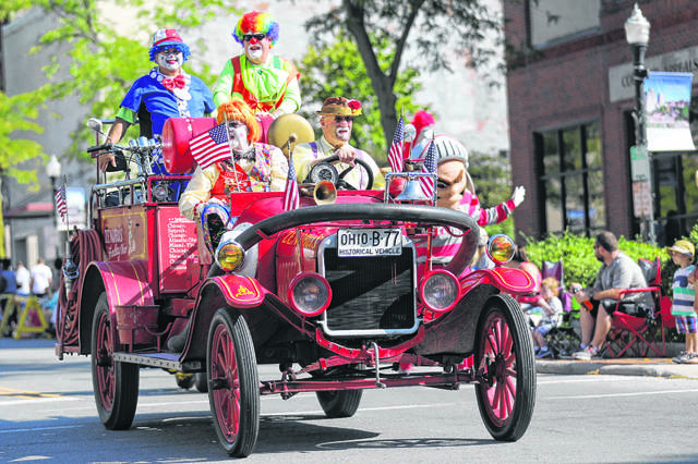 Zenobia Shrine Clowns of Findlay during the Labor Day Parade held downtown last year.