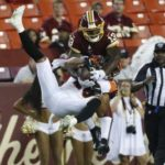 Haskins up and down, Finley strong as Bengals beat Redskins