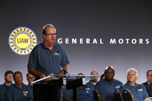 United Auto Workers President Gary Jones speaks July 16 during the opening of contract talks with General Motors in Detroit. More than 96% of United Auto Workers union members have voted to authorize strikes against Detroit's three automakers. The union said Tuesday that the vote means leadership is authorized to call strikes against General Motors, Ford and Fiat Chrysler. But it doesn't mean there will be a work stoppage.