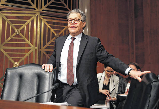 Former Senate member Sen. Al Franken, D-Minn., speaks at a Senate Health, Education, Labor and Pensions Committee hearing Nov. 29, 2017, on Capitol Hill in Washington. Franken, who resigned his seat in 2017 amid sexual misconduct charges, will re-emerge into the public sphere on Saturday when he starts a new weekly radio show on the SiriusXM satellite service.