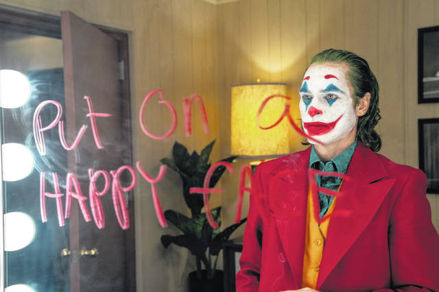 "Joaquin Phoenix can be seen in a scene from ""Joker,"" in theaters on Friday."