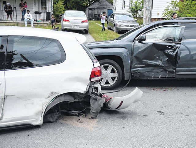 The Lima Police Department was on the scene of a six-car crash in the 1300 block of West Elm Street on Saturday evening.