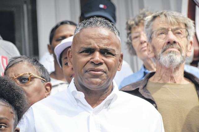 Cleven Jones held a news conference Saturday at his home in the 6th Ward to kick off his campaign for Lima City Council.