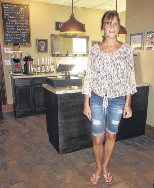 Pictured is Columbus Grove resident Jill Glass in her new business, Ooh La Latte, in the village's downtown.