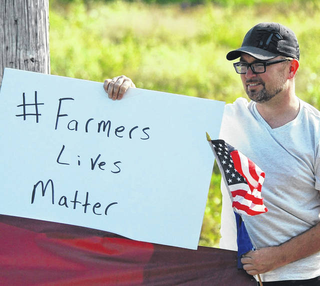 Joe Monbeck, secretary of the Auglaize County Democratic Party, said Trump's agricultural policies are hurting farmers across the United States, including Auglaize and surrounding counties.