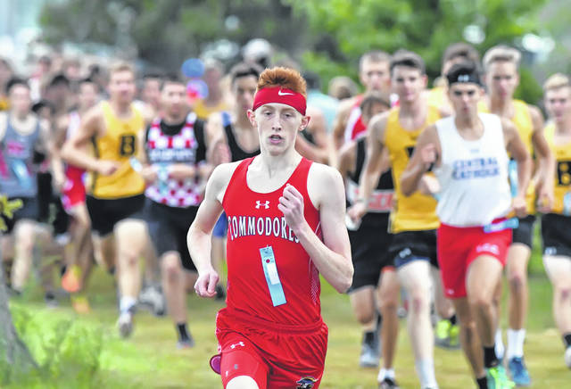 Perry's Brady Yingst was the first-place finisher in Saturday's Spencerville Bearcat Invitational boys small school division race.