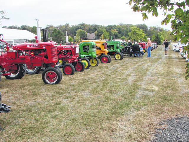 A tractor show at a past Bluffton Fall Festival.
