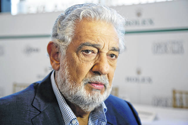 "Spanish tenor Placido Domingo speaks in 2014. The opera star resigned as general director of the Los Angeles Opera following multiple allegations of sexual harassment reported by The Associated Press. In a statement Wednesday, Domingo said the allegations have ""created an atmosphere in which my ability to serve this company that I so love has been compromised."" He has served as general director since 2003."