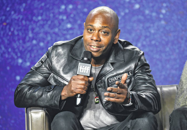 Dave Chappelle speaks in September 2018 at the Toronto International Film Festival. Chappelle is the latest recipient of the Mark Twain prize for lifetime achievement in comedy, an honor bestowed Sunday at the Kennedy Center for the Performing Arts.