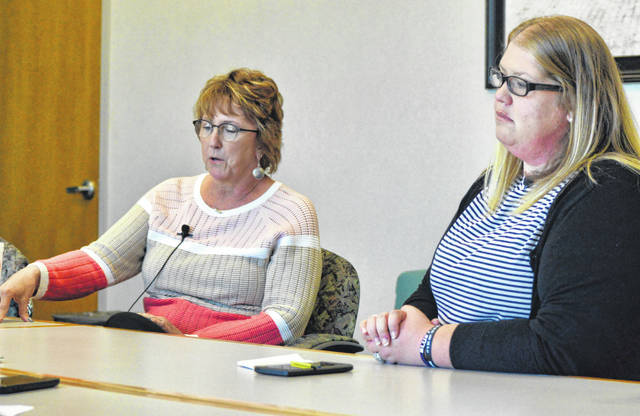 Peggy Ehora (left) hopes to unseat incumbent Rebecca Kreher on Lima council.