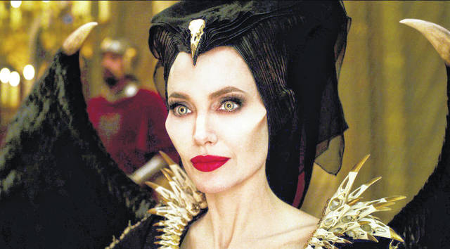 "Angelina Jolie, as Maleficent, is shown in a scene from ""Maleficent: Mistress of Evil."" The movie knocked ""Joker"" out of the No. 1 spot at the box office, but just barely. Photo: Disney via AP"
