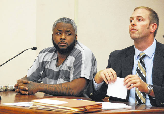 Brandon Thompson appeared in Allen County Common Pleas Court on Friday as his attorney, Zachary Maish, argued that a police photo lineup used to identify Thompson was slanted against his client. The 30-year-old Lima man is charged with involuntary manslaughter for providing drugs that led to the death of a Lima man on Christmas Eve of 2016.