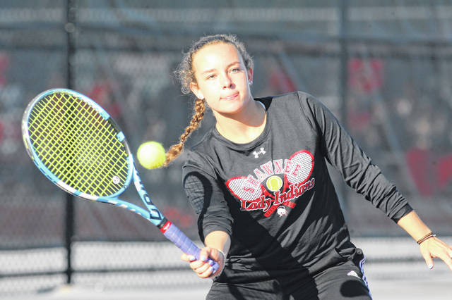 Shawnee's Katie Clark teamed up with Alotus Wei this year and the duo has earned a spot in the state tournament.