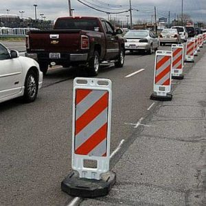 Bluelick Road down to one lane Monday