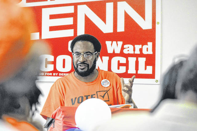 Derry Glenn, 6th Ward councilman for Lima, officially kicked off his campaign for re-election Sunday at the Veterans Memorial Civic Center.