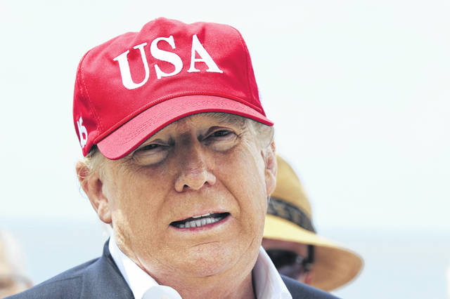 """President Trump tweeted, """"Based on both Media & Democrat Crazed and Irrational Hostility, we will no longer consider Trump National Doral, Miami, as the Host Site for the G-7 in 2020."""" AP File Photo"""