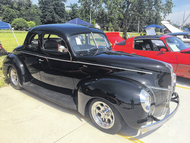 Garry and Pat Locke, of Lima, own this 1940 Ford Coupe. Garry had a similar one in his youth.