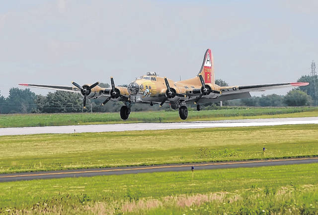 FILE — In August 2018, this B-17 Flying Fortress came to the Allen County Airport as part of The Wings of Freedom Tour. This is the same plane that crashed Wednesdsay in Connecticut.