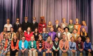 Miller City-New Cleveland eighth grade presents 'North Woods Nonsense'