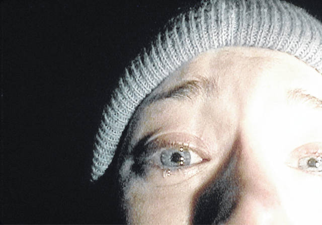 "Heather Donahue confides her grief to her video camera in ""The Blair Witch Project."" File photo"