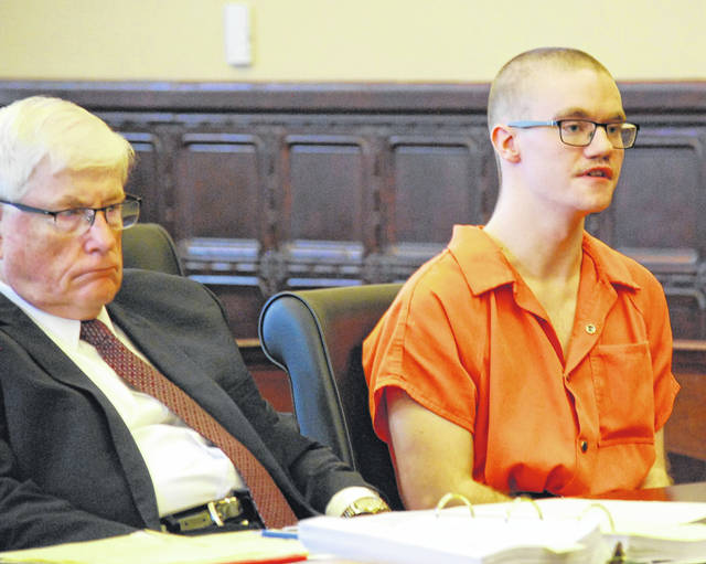 "Wesley Slaughter, pictured with his attorney, Gerald Siesel, offered his apologies to the victims of a fire he started at a downtown Wapakoneta apartment building on Dec. 23 of last year. ""I accept what I've done. If I have to go to prison, I have to go to prison,"" Slaughter said."