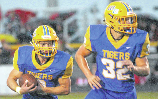 Tigers' Joel Rickle (4) and Kyle Searson (23) provide a potent one-two punch for Waynesfield-Goshen.
