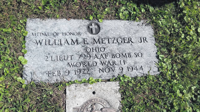 A simple gravestone marks the final resting place for William Metzger, a Medal of Honor recipient from Allen County.