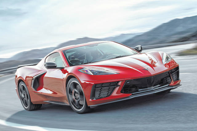 The midengine 2020 Chevrolet Corvette Stingray is the biggest change to the Corvette's design in the car's 66-year history. Its price starts at $59,995. (General Motors Photo via AP)