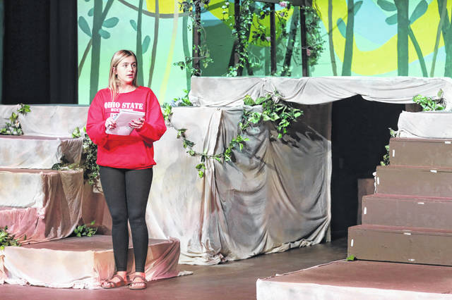"Madison Downing, a senior at Shawnee High School, directs Wednesday at practice for Encore Theatre's ""The Jungle Book Kids,"" playing this weekend at the Lima playhouse. ""I'm always like, 'Why do I do this to myself?'"" Downing said. ""But I genuinely love doing it."""