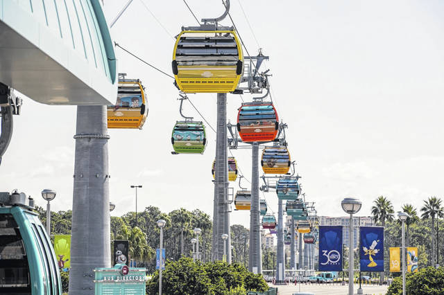 A new gondola ride that had been in operation just seven days broke down Oct. 5 at Disney World in Orlando, Florida. Stranded riders were crying, pleading for help because of their health conditions. In one case a man passed out. Some people said they were stranded for almost three hours. Orlando Sentinel Photo