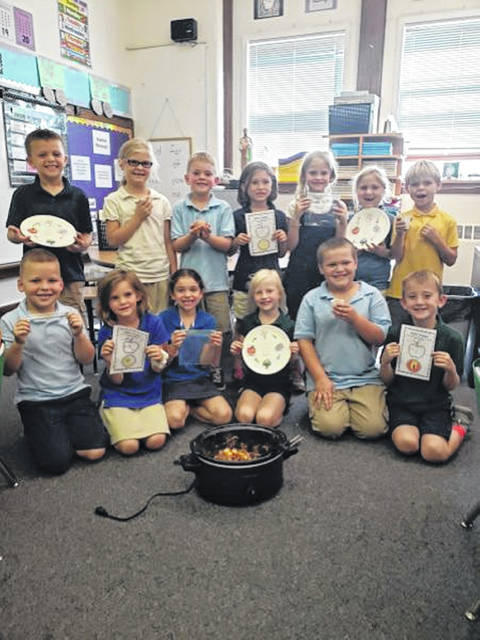 Ss. Peter and Paul students learned about Johnny Appleseed recently and made apple crisp